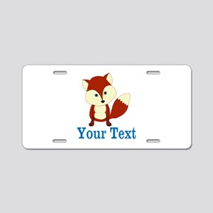 Personalizable Red Fox Aluminum License Plate
