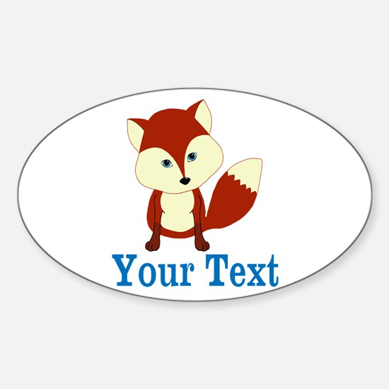 Personalizable Red Fox Decal