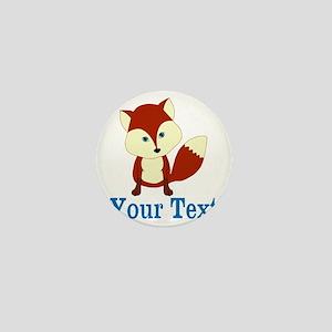 Personalizable Red Fox Mini Button