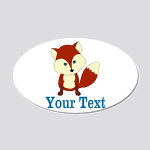 Personalizable Red Fox Wall Decal