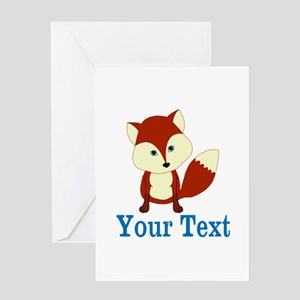 Personalizable Red Fox Greeting Cards