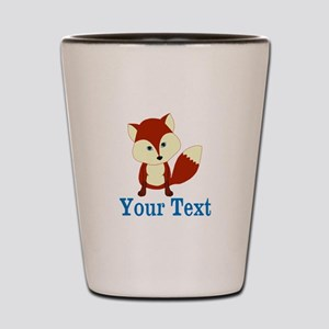 Personalizable Red Fox Shot Glass