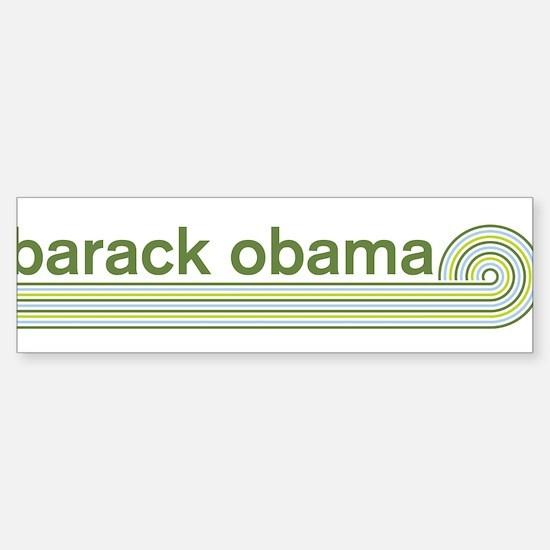 Barack Obama (retro green) Bumper Bumper Bumper Sticker