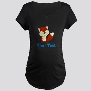 Personalizable Red Fox Maternity T-Shirt