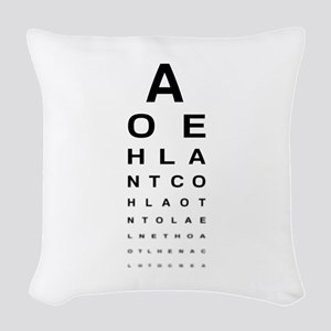 Snellen Eye Test Chart Woven Throw Pillow
