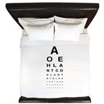 Snellen Eye Test Chart King Duvet
