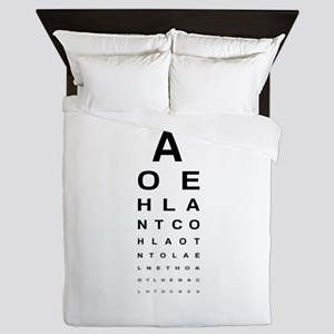 Snellen Eye Test Chart Queen Duvet