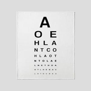 Snellen Eye Test Chart Throw Blanket