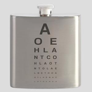 Snellen Eye Test Chart Flask