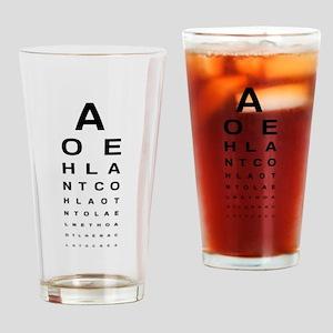 Snellen Eye Test Chart Drinking Glass