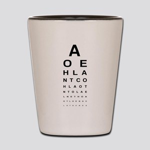 Snellen Eye Test Chart Shot Glass