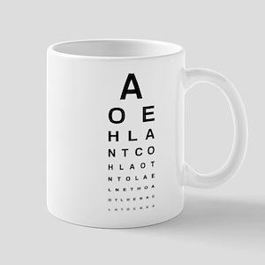 Snellen Eye Test Chart Mugs