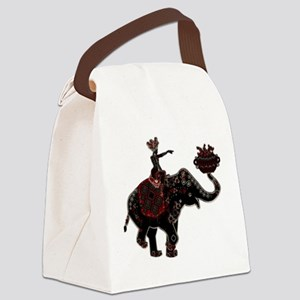 Metallic Trader on Elephant Back Canvas Lunch Bag