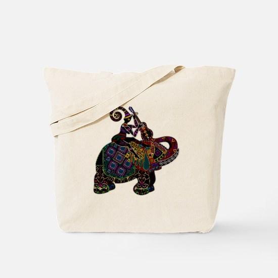 Metallic Minstrel on Elephant Back Tote Bag