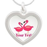 Personalizable Pink Flamingoes Necklaces