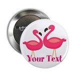 Personalizable Pink Flamingoes 2.25