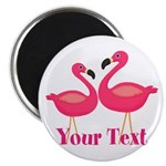 Personalizable Pink Flamingoes Magnets