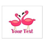 Personalizable Pink Flamingoes Posters