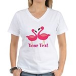 Personalizable Pink Flamingoes T-Shirt
