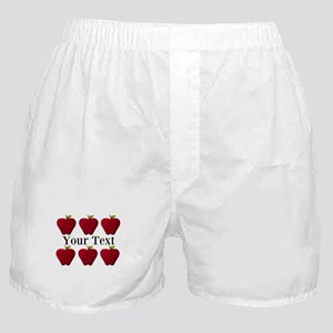 Personalizable Red Apples Boxer Shorts