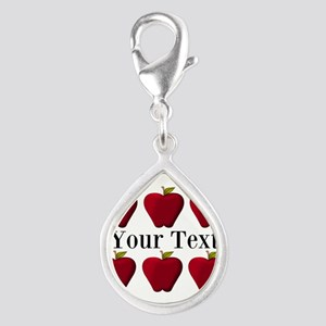 Personalizable Red Apples Charms