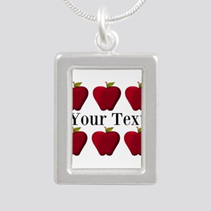 Personalizable Red Apples Necklaces