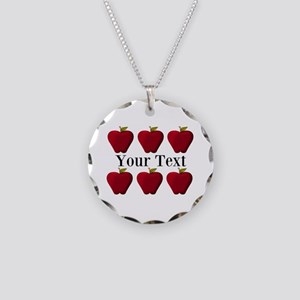 Personalizable Red Apples Necklace