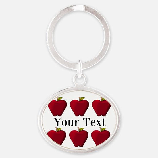Personalizable Red Apples Keychains