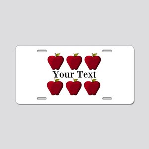 Personalizable Red Apples Aluminum License Plate
