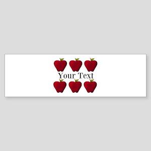 Personalizable Red Apples Bumper Sticker