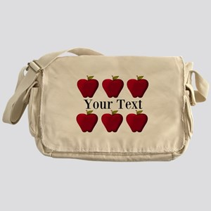 Personalizable Red Apples Messenger Bag