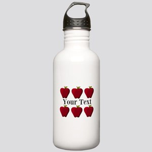 Personalizable Red Apples Water Bottle