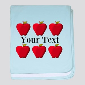 Personalizable Red Apples baby blanket
