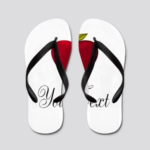 Personalizable Red Apple Flip Flops