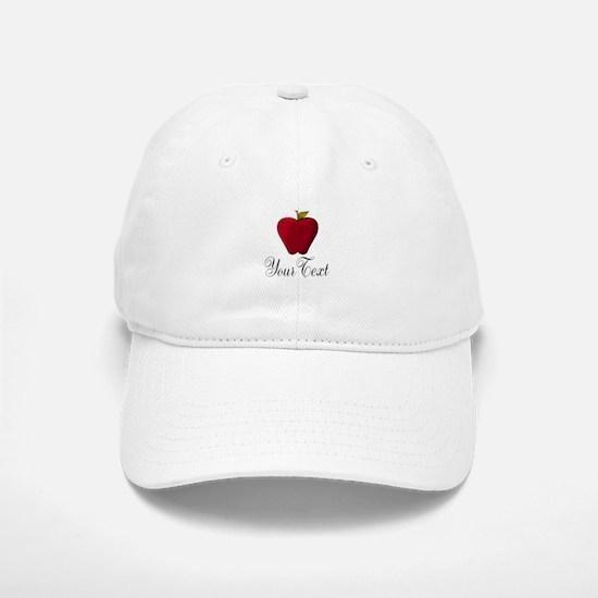 Personalizable Red Apple Baseball Baseball Baseball Cap