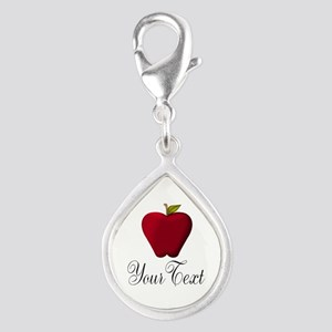 Personalizable Red Apple Charms