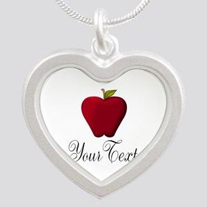 Personalizable Red Apple Necklaces