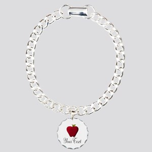 Personalizable Red Apple Bracelet