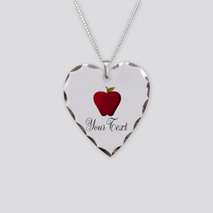 Personalizable Red Apple Necklace