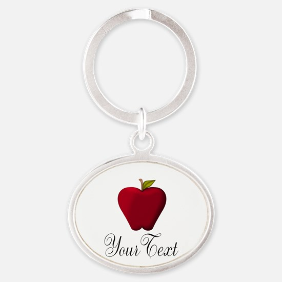 Personalizable Red Apple Keychains