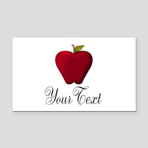 Personalizable Red Apple Rectangle Car Magnet