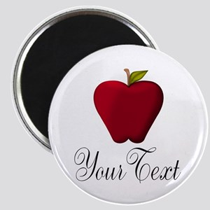 Personalizable Red Apple Magnets
