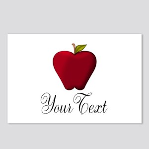 Personalizable Red Apple Postcards (Package of 8)