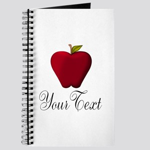 Personalizable Red Apple Journal