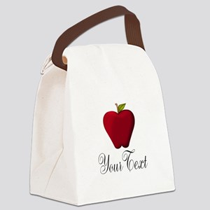 Personalizable Red Apple Canvas Lunch Bag