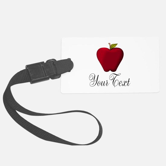 Personalizable Red Apple Luggage Tag