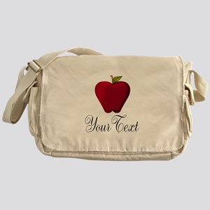 Personalizable Red Apple Messenger Bag