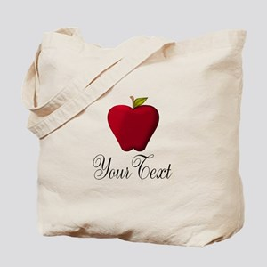 Personalizable Red Apple Tote Bag