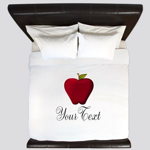 Personalizable Red Apple King Duvet