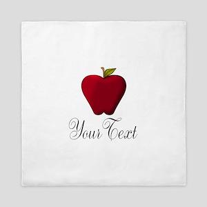 Personalizable Red Apple Queen Duvet